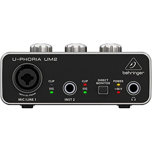 Behringer UM2 - Interface de audio USB/USB 2.0, sampleado de 48 kHz