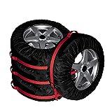 Cubierta de repuesto para neumáticos, 4 unidades, estación, asas de transporte, fundas de protección para neumáticos, bolsas de almacenamiento, cubierta de rueda para coche, todoterreno, camión, furgoneta (compatible con neumáticos de 16 – 22 pulgadas)