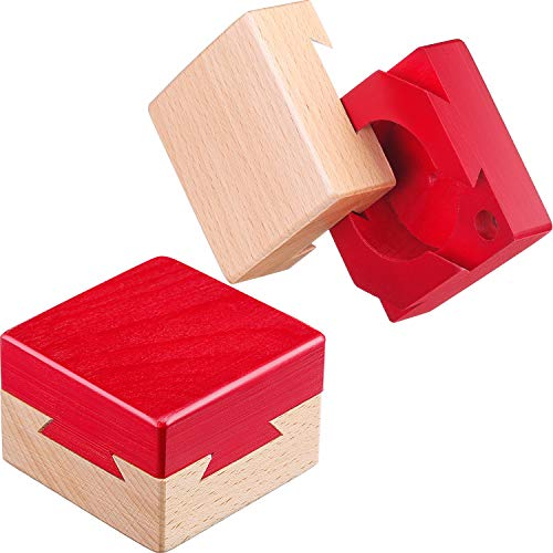 Blulu Unmöglich Schwalbenschwanz Box Mini 3D Holz Puzzle Box Geschenk Schmuckschatulle Intelligenz Spiele Puzzle Spielzeug
