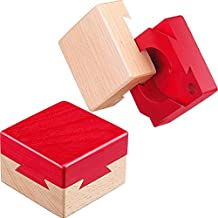 Blulu Mini Puzzle 3D de Madera Caja de Joyería Regalo Caja de Dovetail Imposible Juguete de