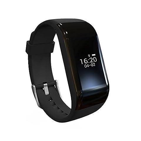 Smart Armband mit Fitness Tracker, COSITEA R1 Smart Armband mit Schlaf Monitor und Schritt Tracker , IOS und Android fähig, schwarz