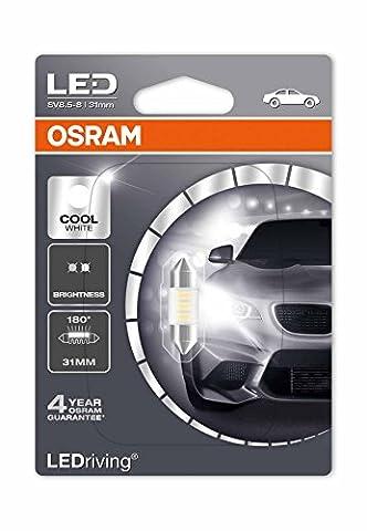 OSRAM LED Standard Retrofit SV8.5-8 36mm, LED-C5W, Innenbeleuchtung, 6436CW-01B, Cool White, 12V PKW, Einzelblister (1 Stück)