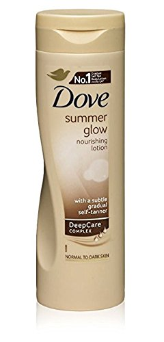 6x Dove Sommer Glow Body Lotion für normale bis dunkle Haut 250ml