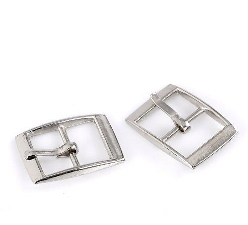 pedometer (TM) 30pcs silver tone buckles shoes accessories Sewing buckles for sewing accessories bags 25 x 19 mm