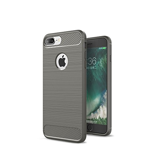 Crust CarbonX Brushed Metal & Carbon Fiber TPU Back Case Cover For Apple iPhone 7 Plus (5.5