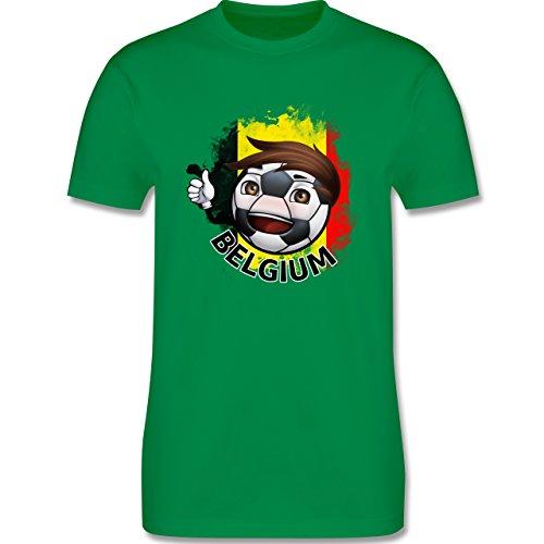EM 2016 - Frankreich - Fußballjunge Belgien - Herren Premium T-Shirt Grün