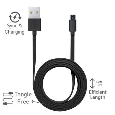 Huawei MediaPad M1 / Huawei MediaPad M 1 Micro USB Cable Original Best High Speed Data Cable Fast Charging Cable Data Transfer Cable Universal Micro USB Flat Data Cable Micro USB Cable with Charging Speeds up to 2.4Amps 1 Meter Long By StuffHoods (Black, White)  available at amazon for Rs.298