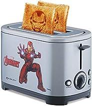 Bajaj Avengers 650-Watt 2-Slice Pop-Up Toaster with Iron Man & Captain America Pl