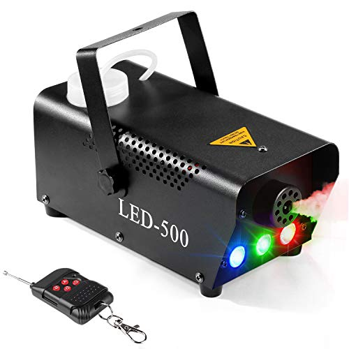 Fog Machine, Agptek macchina del fumo con telecomando, enorme Fog 2000 CFM Durable & portable parità, per matrimoni o feste di Halloween Christmas Stage effetto Wireless Remote Control with LED Light