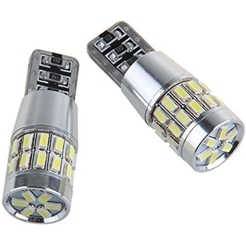 Super brillante 2x 30 SMD 3014 LED LED de reemplazo Can-Bus iluminación interior Bombilla LED 5W T10 blanco 360 ° Ángulo de