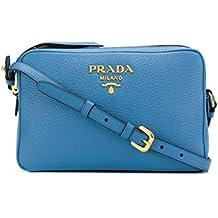 Prada Borsa A Spalla Donna 1BH0822BBEF0P9S Pelle Azzurro