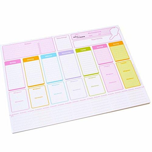 Wochenplaner Vordruck XL - inkl. Essensplaner und Einkaufsliste