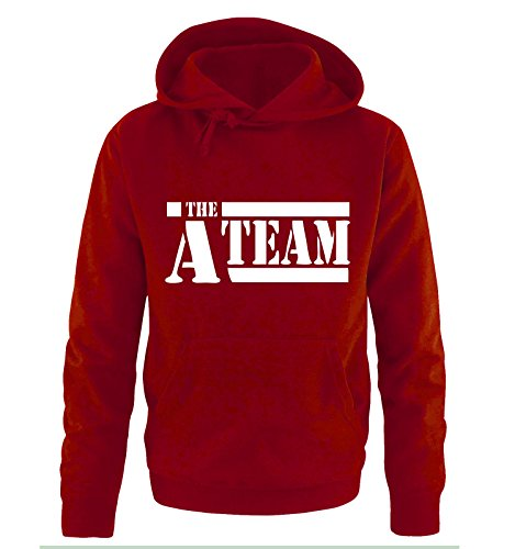 Gangster Frisuren (A-TEAM - Herren Hoodie in Rot / Weiss Gr.)