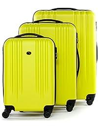 FERGÉ® Valise Trolley variété de Couleurs et de Tailles Marseille Bagages Rigide 4 Roues 360 degrés