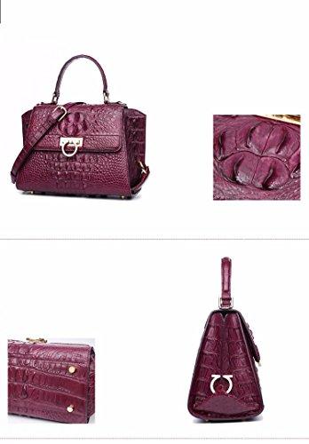lpkone-Nouveau motif crocodile femelle baodan packets aile avec le sac bandoulière sac en bandoulière Purple