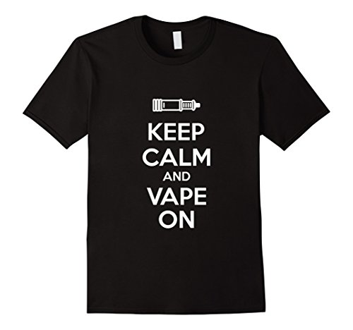 Keep Calm And Vape On T-Shirt Herren, Größe 3XL Schwarz