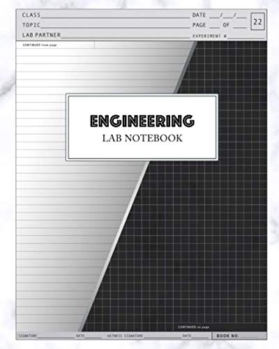 Engineering Lab Notebook: Engineer Laboratory Experiments Using Quadrille Graph Paper with Alternating Lined Ruled Pages Students: 100 Pages ... 8