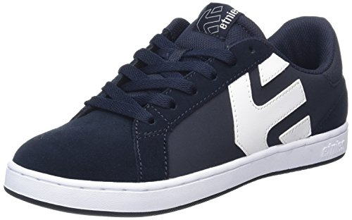 Etnies Fader LS, Chaussures de Skateboard Homme Bleu (Dark Blue/white)