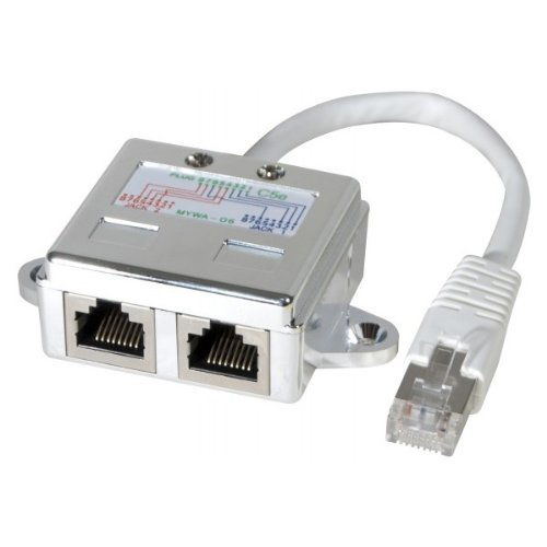 NEUTRE Doubleur de port rj 45 blindé