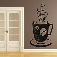 Chicco di caffè Tazza E Wall Sticker caffè Adesivo Art disponibile in 5 dimensioni e 25 colori Extra-Small Verde foglia