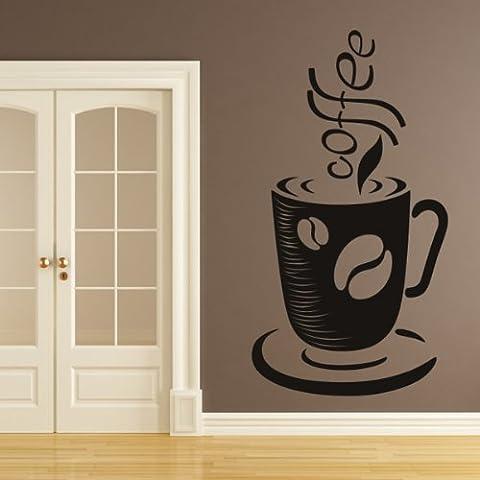 Chicco di caffè Tazza E Wall Sticker