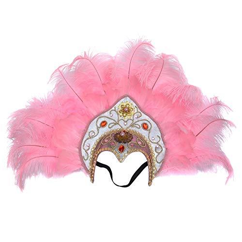 FLY MEN VOLANO Gli Uomini Accessori for Capelli di Piume di Struzzo Copricapo di Piume Ornato Sexy Personalizzato Fatto a Mano con Diamanti (Color : 12 Pink)