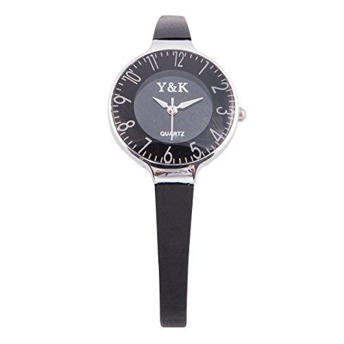 Designer Modeschmuck Berühmt (Yaki Modeuhr Sportliche Damenuhren Quarz Uhren Casual Uhr Frauen Schmal Silikonarmband)