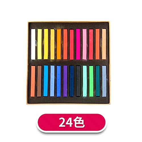 ZYH994 48 Farbe Kreide Haarfärbemittel Skizze Farbe Bleistift Papierfarbe Ungiftig Wasserlösliche Buntstifte Büro Schule Malerbedarf, 24 Farbe