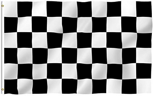 Anley einfarbige Flagge, Textil, Checkered, 3 X 5 Ft