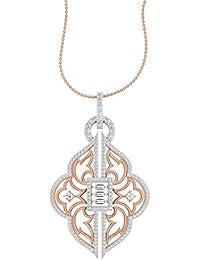 TBZ - The Original 18k Pink Gold and Diamond Party Wear Designer Pendant