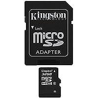 Kingston - SDC4/32GB - Carte Micro SDHC - Classe 4-32 Go avec Adaptateur