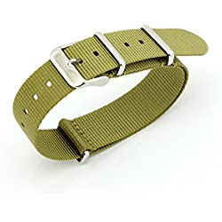 Owfeel(TM) Military green Nylon Watch Band Strap Replacement Watch Belt