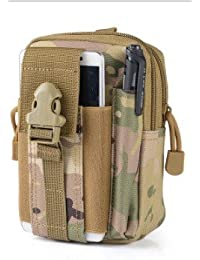 Three Sand In Camouf : Outdoor Military Tactical Belt Waist Bags Waterproof Mobile Phone Wallet Travel Sport Waist...