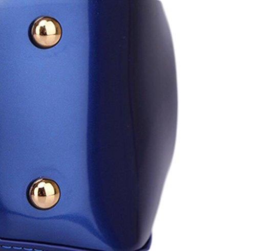 Sacchetto Del Braccio Pacchetto Di Stereotipi Borsa Sposa Borsa Borsa Lucida Modo Della Pelle Verniciata Delle Borse Delle Signore Di Moda Borsa Casual Purple