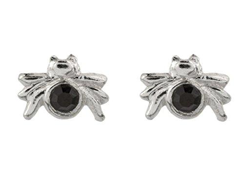 Sterling Silber Jet Kristall Spider -