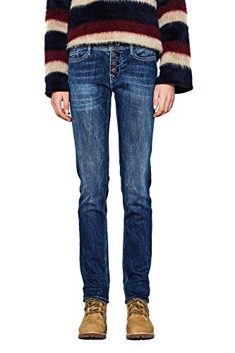 edc by ESPRIT Damen Slim Jeans 997CC1B818, Blau (Blue Dark Wash 901), W28/L32