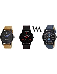 Watch Me Gift Combo Set For Him/Watches For Men/Watches For Boys (watches 3 Combo/watches 2 Combo) WMC-002-BR-AWC... - B0778LSH9M