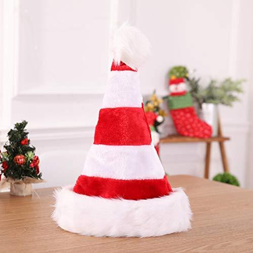 Weihnachten Santa Hüte, weiche Plüsch Weihnachten Hut mit Pompon Ball Dekor traditionelle rot grün weiße Farbe Weihnachtsdekoration Hut für Weihnachten Kostüm Party Cosplay