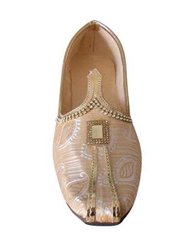 KALRA Creations Herren Traditionelle indische Seide casual Schuhe Multi-Color