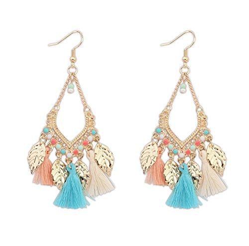 yancorp Damen Silber vergoldet Saphir Blau Kristall Strass Hochzeit baumeln Tropfen Ohrringe Fashion Jewelry (Saphir Und Diamant Ohrringe Kostüme)