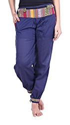 Soundarya Womens Cotton Pant (Blue, 39)