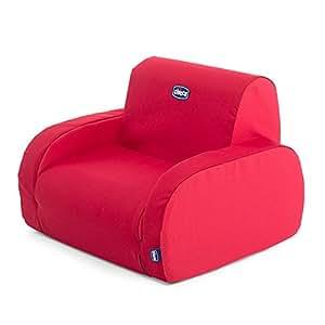 Chicco Fauteuil Twist Rouge - 3 Configurations - Divan - Fauteuil - Chaise Longue