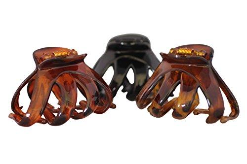 Beautiful Three Octopus Haar-Krallen-Clip, Butterfly-Bulldog-Design, plastik, Schnellversand