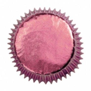 Culpitt 45pk FOIL PINK 50mm Standard Cupcake Cup Cake Muffin Baking Cases