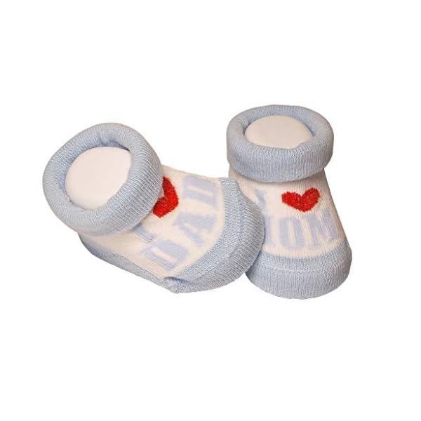 De regalo de calcetines para bebé Regalo único para baby shower o recién nacido para niños y niñas 1 par 0-3 meses 3