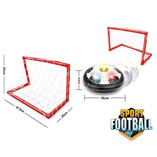 2018 Honestyi Matschig Spielzeug,LED Air Power Trainingsball Fußball Fußballtor Hover Ball mit 2 ()