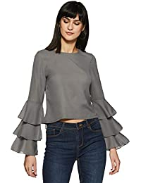 Stalk Buy Love Women's Georgette Lucie Ruffles Blouse