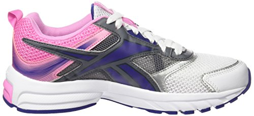 Reebok Pheehan Run 4,0 Chaussures de running Femme Blanco / Rosa / Azul / Gris (White / Icono Pink / Night Beacon / Alloy / Silv)