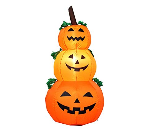 Clearance Halloween Inflatables - 4Ft Halloween Inflatables Kürbis-Dekorationen Im Freien