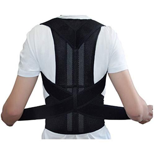 Komise Rückenlehne Magnetic Shoulder Corrector Support Brace Belt Therapy Men Women (Schwarz, L) - Lite Belt